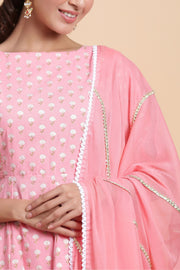 Gillori gold printed kurta set for women