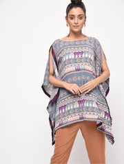 Contrast Piped Kaftan