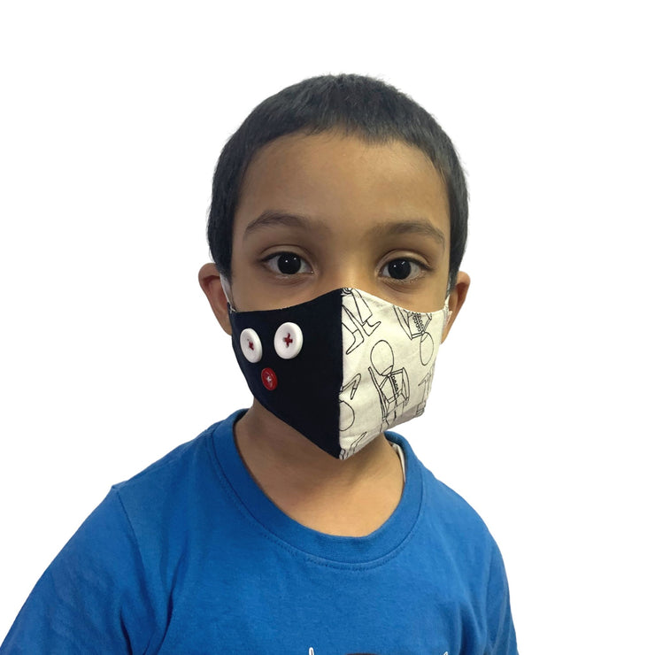 three layered face mask for kids