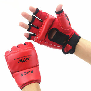 Kids Adult Half Finger Fight Boxing Gloves for MMA Muay Thai Kick Boxing Training