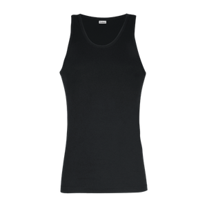 Cotton Smooth Vest In Black