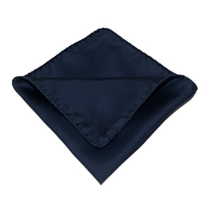 Blue Silk Pocket Handkerchief