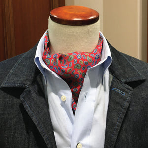 Red and small paisley cravat