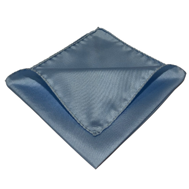 Light Blue Silk Pocket Handkercief