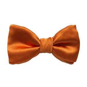 Orange Silk Bow Tie
