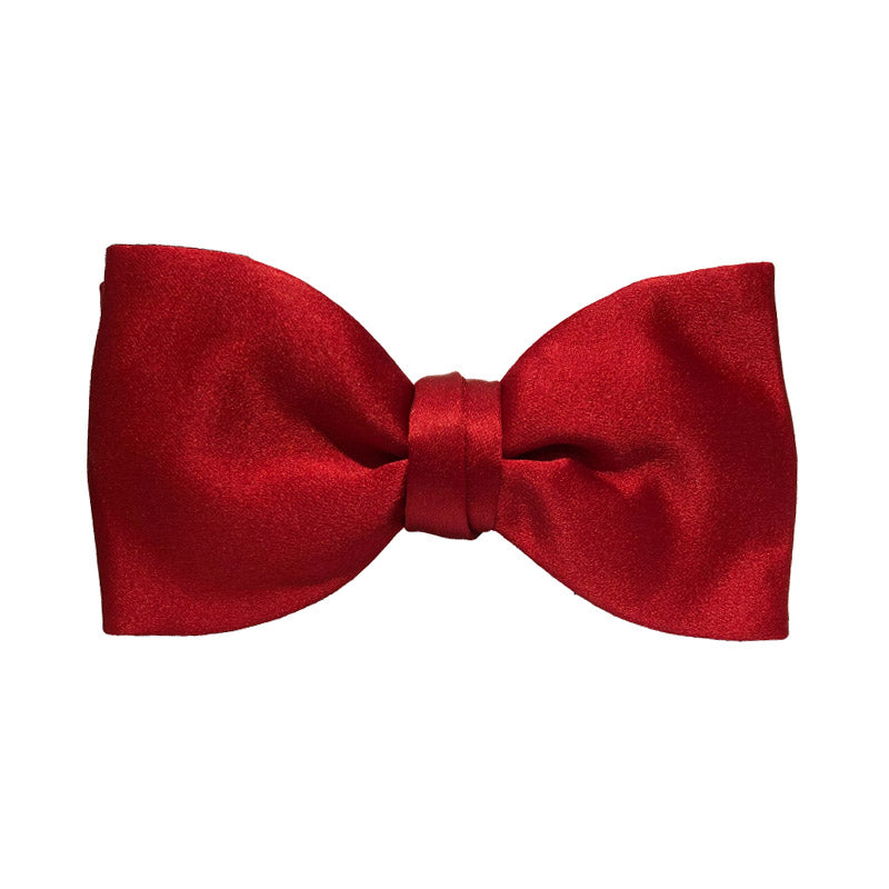 Red Satin Silk Bow Tie