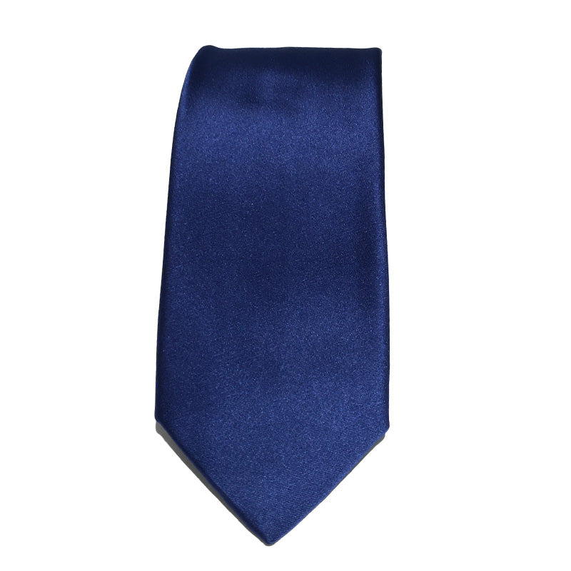 Royal Blue Satin Silk Tie