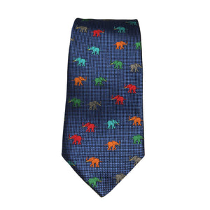 Elephant calf tie in royal blue