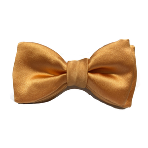 Silk Bow Tie Yellow Gold