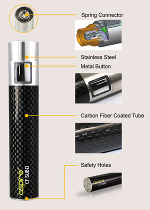 Aspire CF MOD SUB- Ohm 2000mAh with 18650 Battery