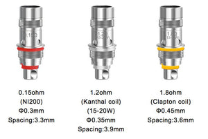Aspire Triton Mini Replacement Coil Head 1.8ohm-1.2ohm-0.15ohm - 5pcs-pack