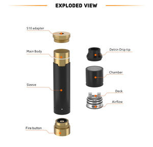 Geekvape Tsunami Black Ring Plus Mech Mod