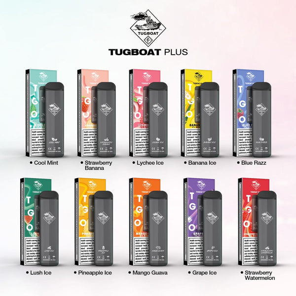 TUGBOAT PLUS DISPOSABLE POD DEVICE 800 Puffs 400mAh