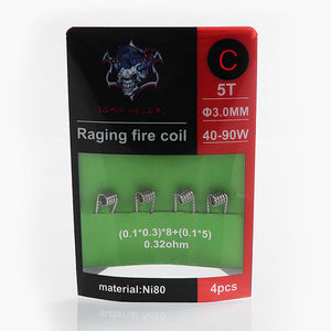 Demon Killer Raging Fire Coil Ni80 Pre-made Heating Wire 4PCS-PACK