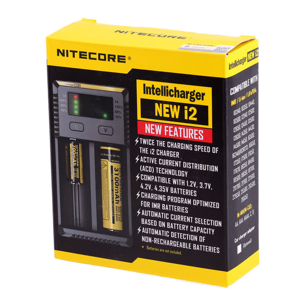 Nitecore New i2 Intellicharger Charger EU-US TC MOD Battery