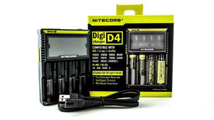 Nitecore D4 Intellicharger Charger EU-US TC MOD Battery