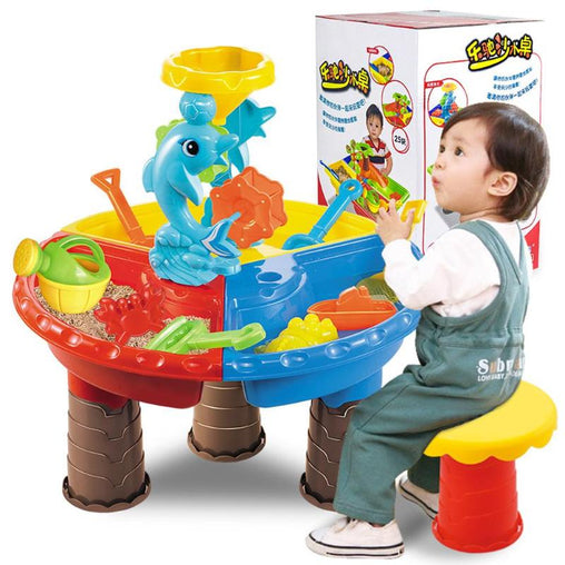 Kids Sand Bucket Water Wheel Table Play Set Toys Outdoor Beach Sandpit Toys Baby Learning Education Toys for Kid Fun toys Set