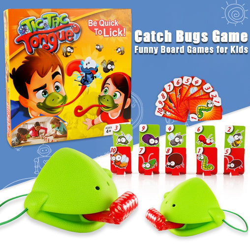 buzzed game Creative Funny Take Card-Eat Pest Catch Bugs Game Desktop Games Board Games for Kids family Toy Collection Kid Gift