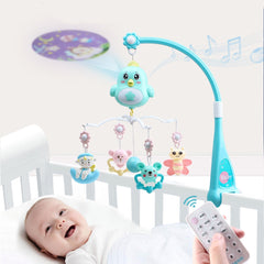 0-12 Months Baby Crib Mobiles Rattles Newborn Music Educational Toys For Baby Sleep Comfort Infant Bed Bell Carousel Toddler Toy