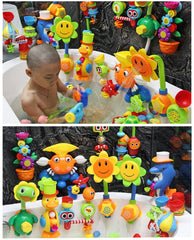 Kids Shower Bath Toys Cute Yellow Duck Waterwheel Elephant Toys Baby Faucet Bathing Water Spray Tool Dabbling Toy Dropshipping