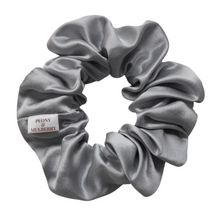 Load image into Gallery viewer, Luxury Midi Grey Hair Scrunchie - Pure 100% Mulberry Silk 22 Momme