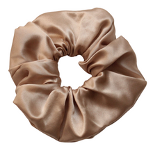 Load image into Gallery viewer, Luxury Maxi Champagne Hair Scrunchie - Pure 100% Mulberry Silk 22 Momme