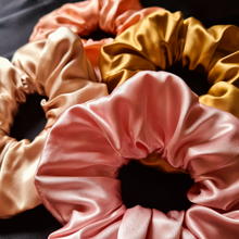 Load image into Gallery viewer, Luxury Maxi Blush Pink Hair Scrunchie - Pure 100% Mulberry Silk 22 Momme