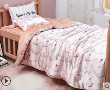 Load image into Gallery viewer, Childrens Luxury Pink Ballerina Design Pillowcase - Pure 100% Mulberry Silk