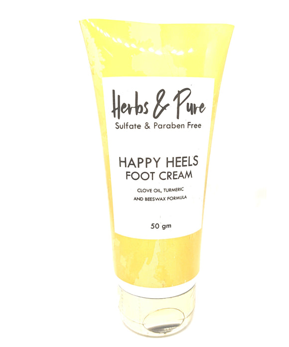 Herbs & Pure Foot Cream (Clove Oil, Turmeric and Beeswax formula)
