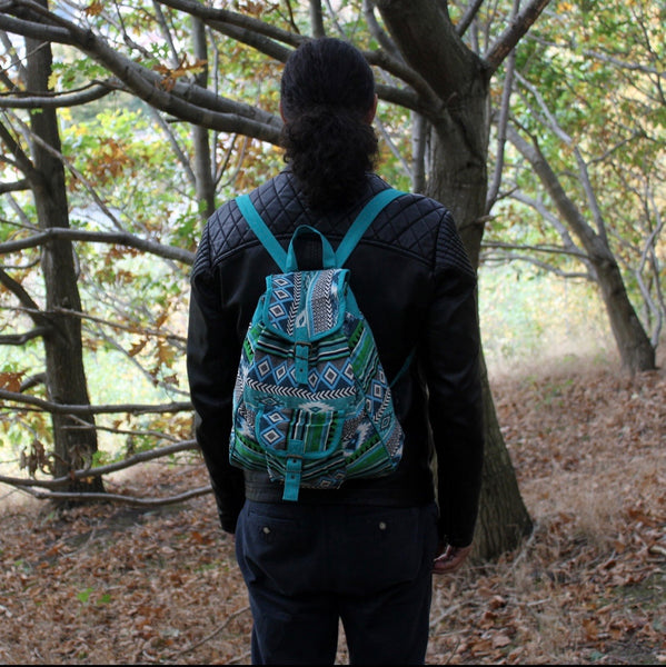 Jacquard Bag - Teal Backpack
