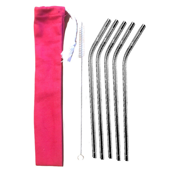 5 Stainless Steel Eco Straws