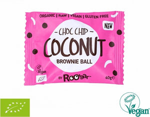 RooBar Brownie Ball • Choc Chip Coconut 40g
