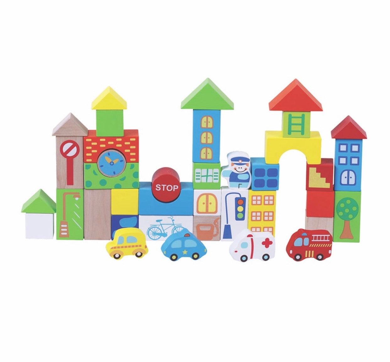 40 pcs Traffic building blocks