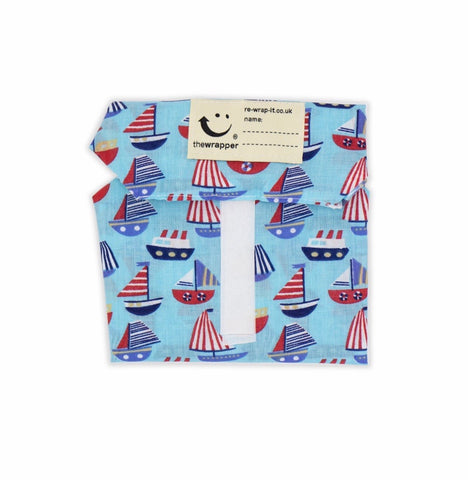 Reusable Velcro Sandwich Wrap • Sailing Boats