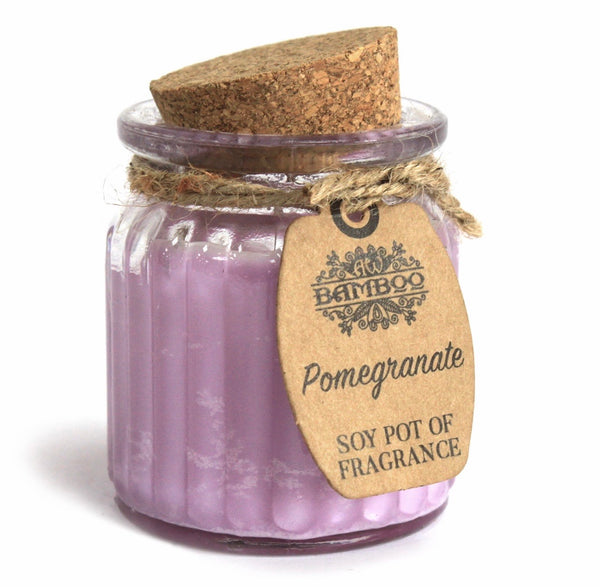 Pomegranate Soy Pot of Fragrance Candle