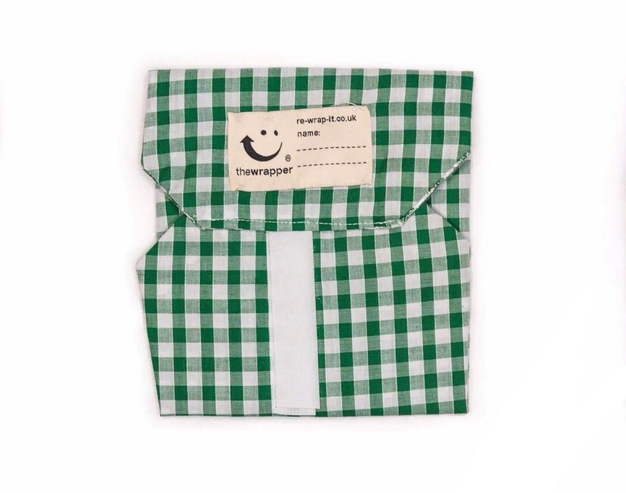 Reusable Velcro Sandwich Wrap • Green check