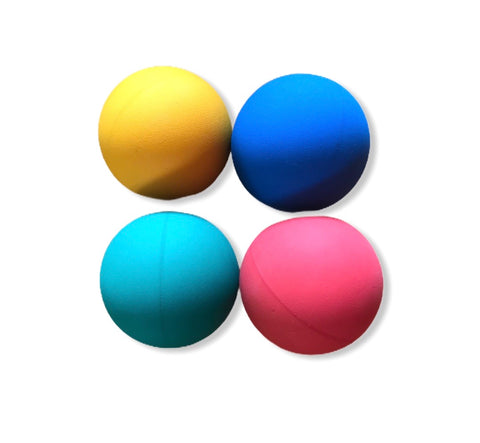 4 Natural Indian Rubber Bouncy Balls