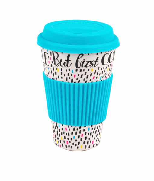 Cambridge Eco-Friendly Travel Mug 470ml - But First Coffee