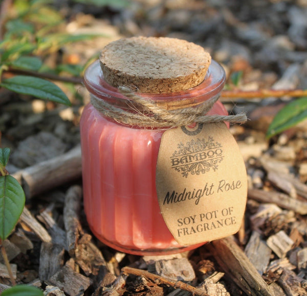 Midnight Rose Soy Pot of Fragrance Candle