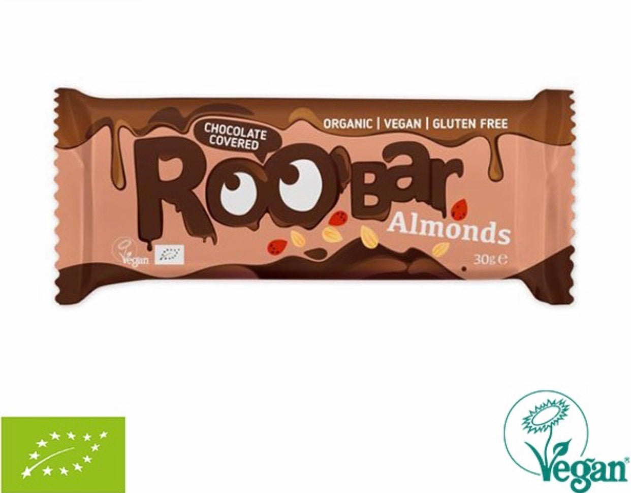 RooBar Chocolate Covered Bar • Almond 30g