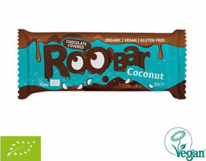 RooBar Chocolate Covered Bar • Coconut 30g
