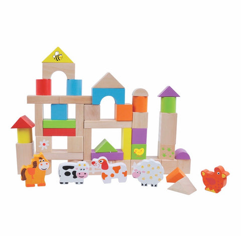 Farm Building Blocks- 50 pcs