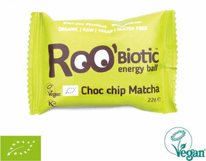 RooBar Roobiotic Ball • Matcha & Choc Chip 22g