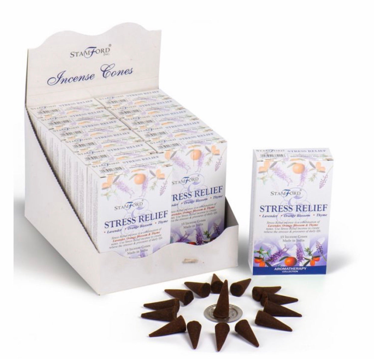 Stamford Incense Cones - Stress Relief