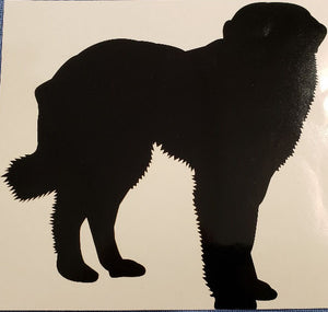 Great Pyrenees Decal-Black