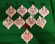 Load image into Gallery viewer, Reindeer Ornament Set of 9