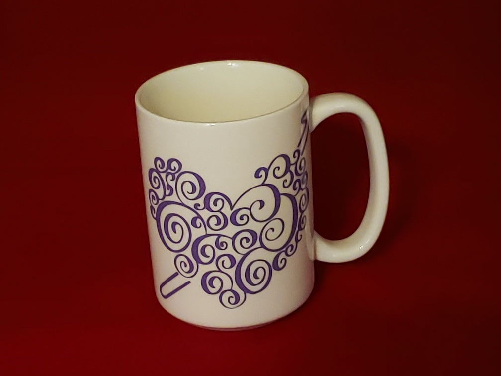 Heart Crochet Hook Mug