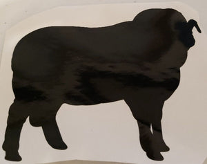 Rambouillet Sheep Decal