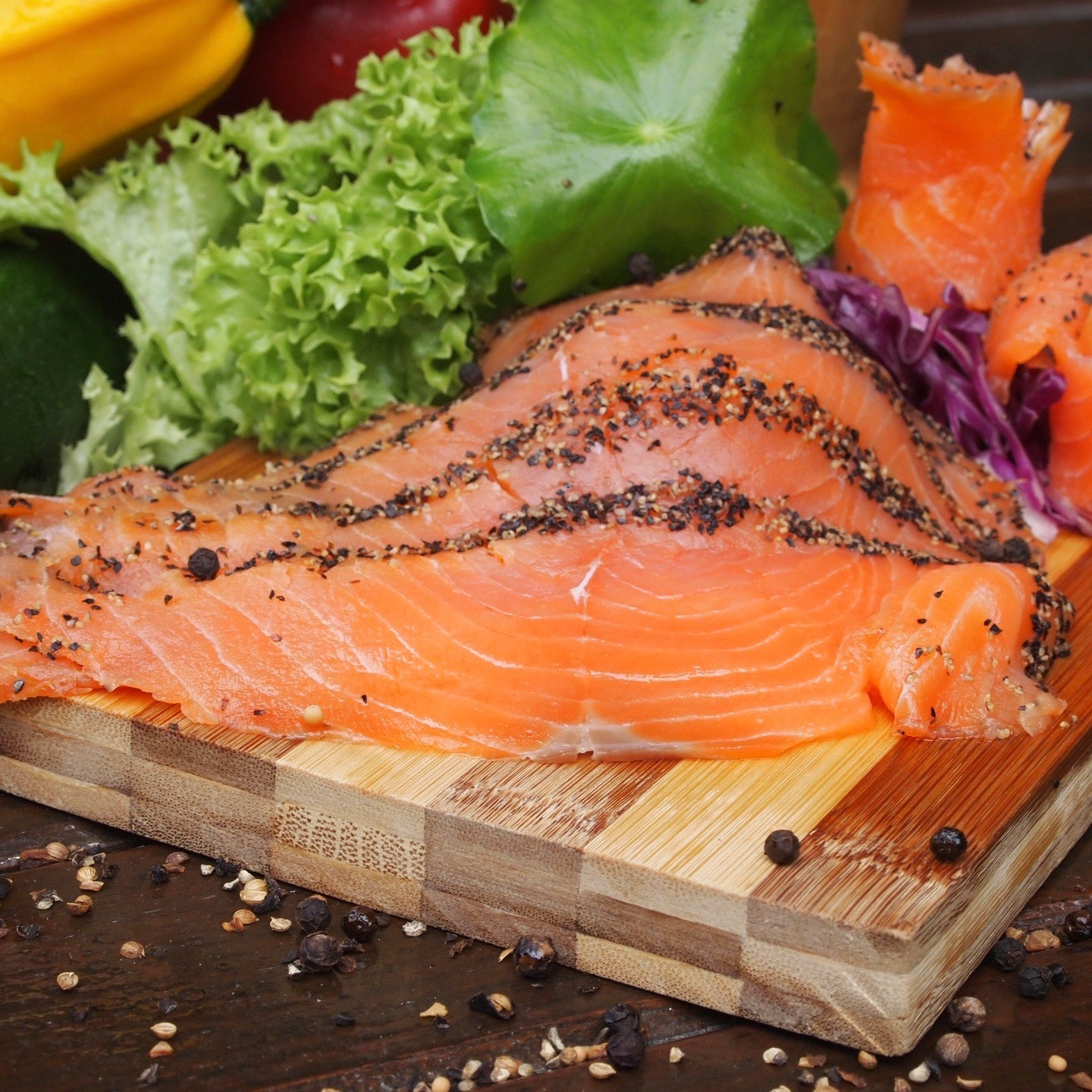 Five Pepper Smoked Salmon | Norway | Frozen |200g