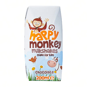 Chocolate Milkshakes x4 | Happy Monkey | 200 ml